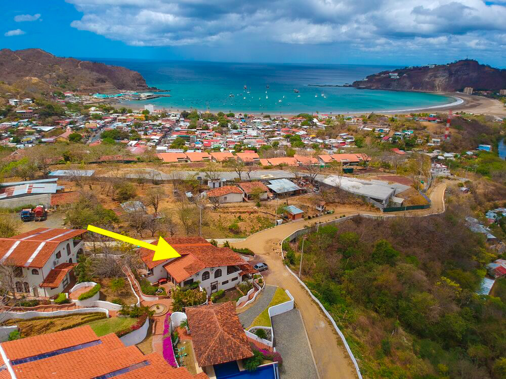 Two Bedroom, Three Bath Ocean View Home in Gated Community with Swimming Pools, Walkable to Town