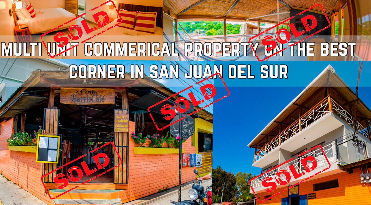 Multi Business Commercial Property on the Best Corner In San Juan Del Sur